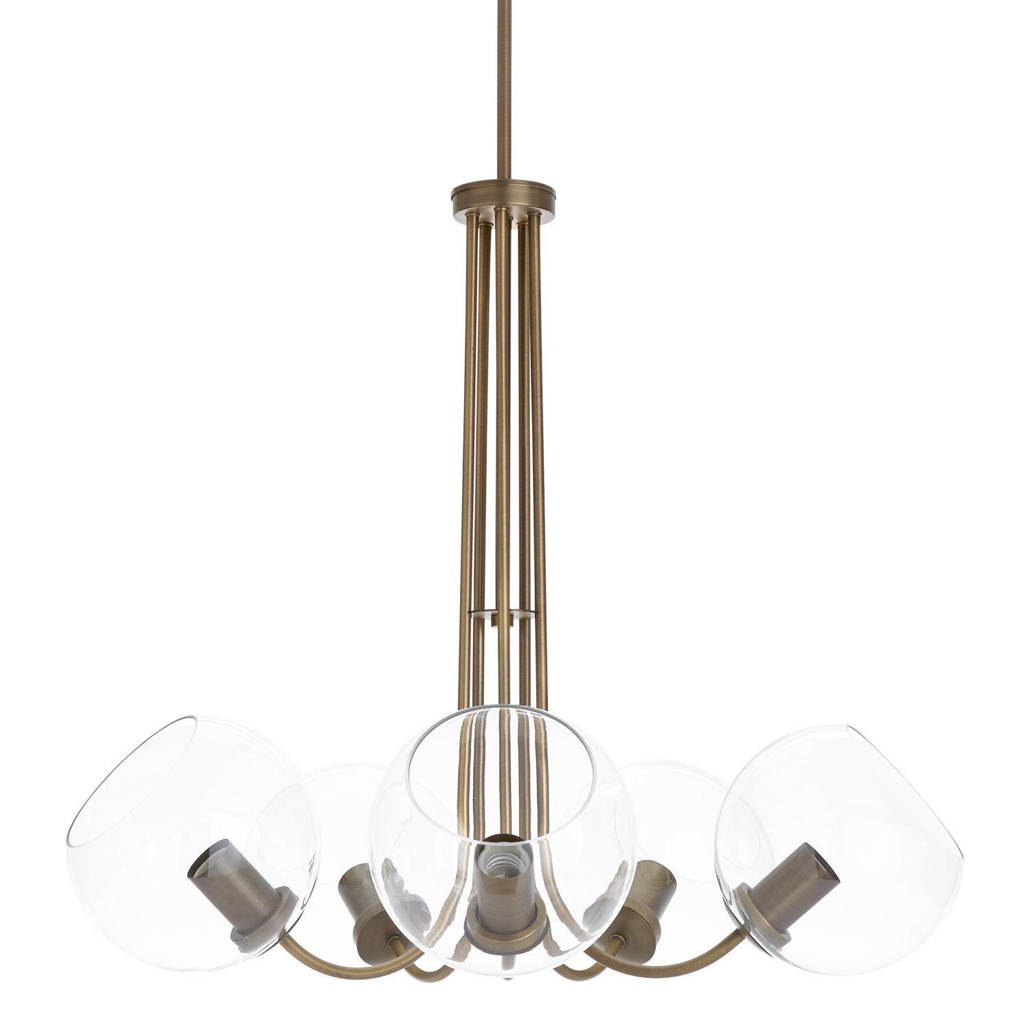 Lights.com Ceiling Lights Chandeliers Celeste 5-Light Chandelier with Clear Globes, Bronze