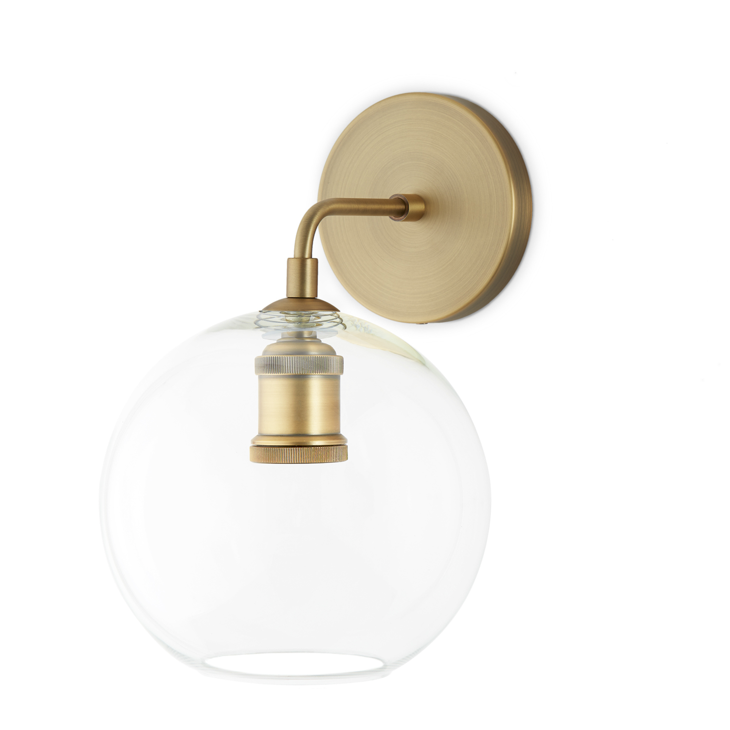 Drawstring Wall Lights : Lights.com Wall Lights Hoyt Wall Sconce with Clear Globe, Aged Brass