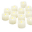 Battery Operated Ivory Wax Drip Tea Lights, Set of 12