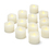 LED Ivory Wax Tealights, Set of 12
