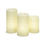 Trinity Carved Wax Flameless Candles, Set of 3