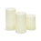 Trinity Carved Wax Candles, Set of 3