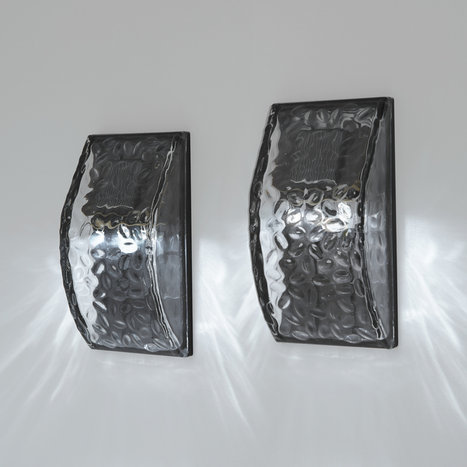 Vitreo Solar Wall Sconce Light, Set of 2