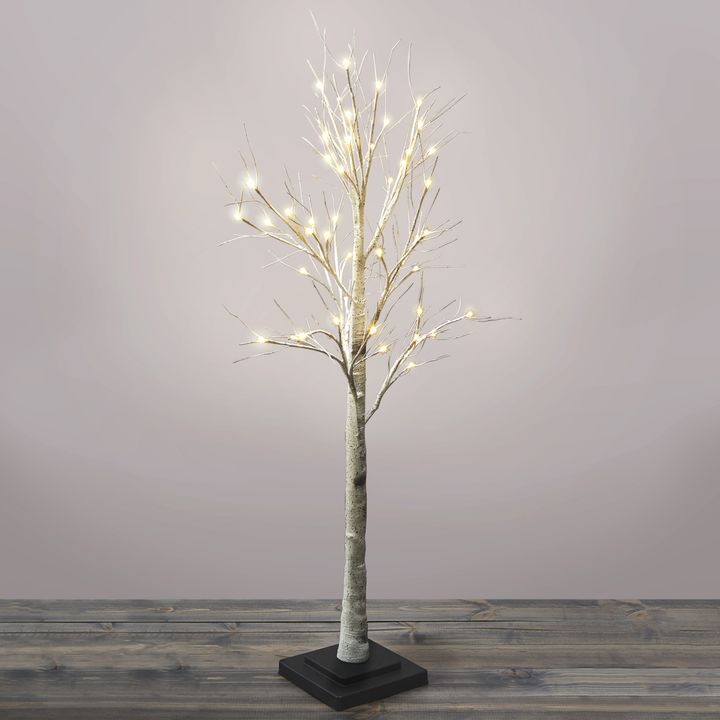 Warm White LED Birch Tree