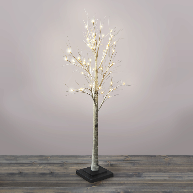 Warm White LED Birch Tree