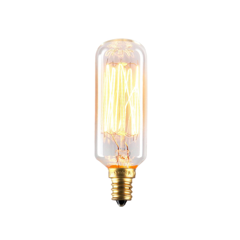 Bulbs Edison Bulbs Williamsburg Mini T28 Vintage Candelabra Bulbs 40w E12