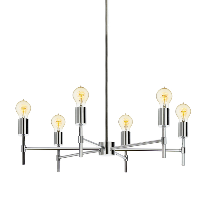Prospect 6-Light Round Chandelier, Chrome