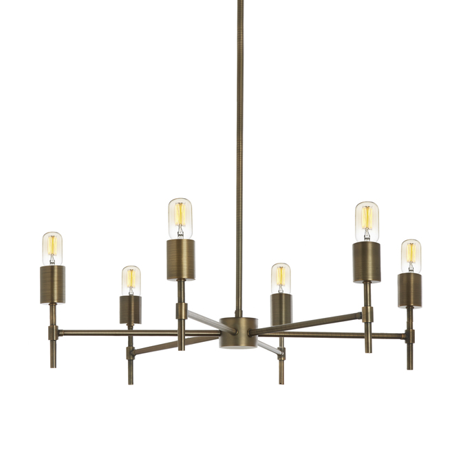 Prospect 6-Light Round Chandelier, Bronze