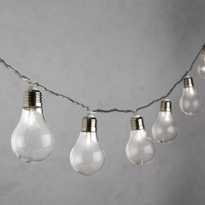 Warm White 20 Light LED String Lights, Clear