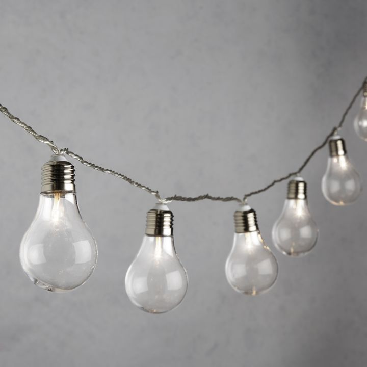 Warm White 20 Light LED String Lights, Clear