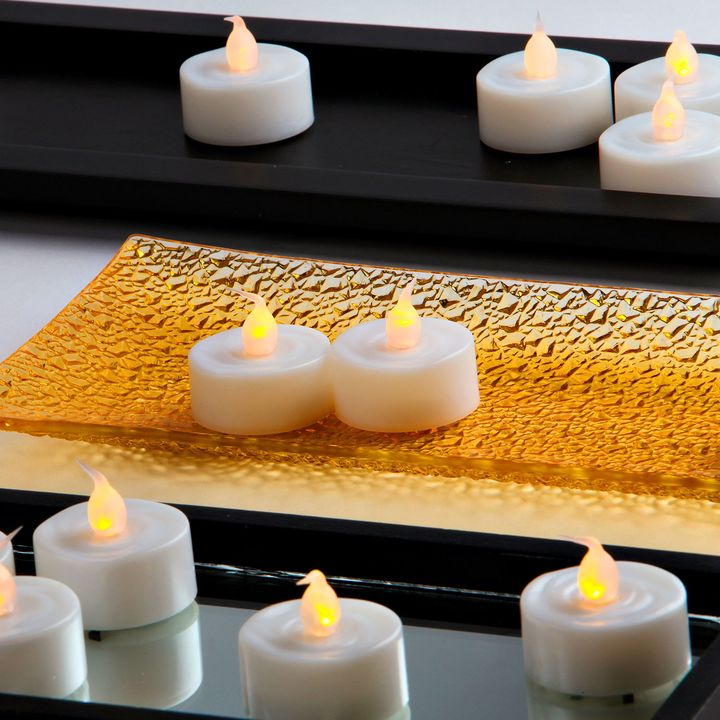 Flameless Battery Tea Lights, Set of 25