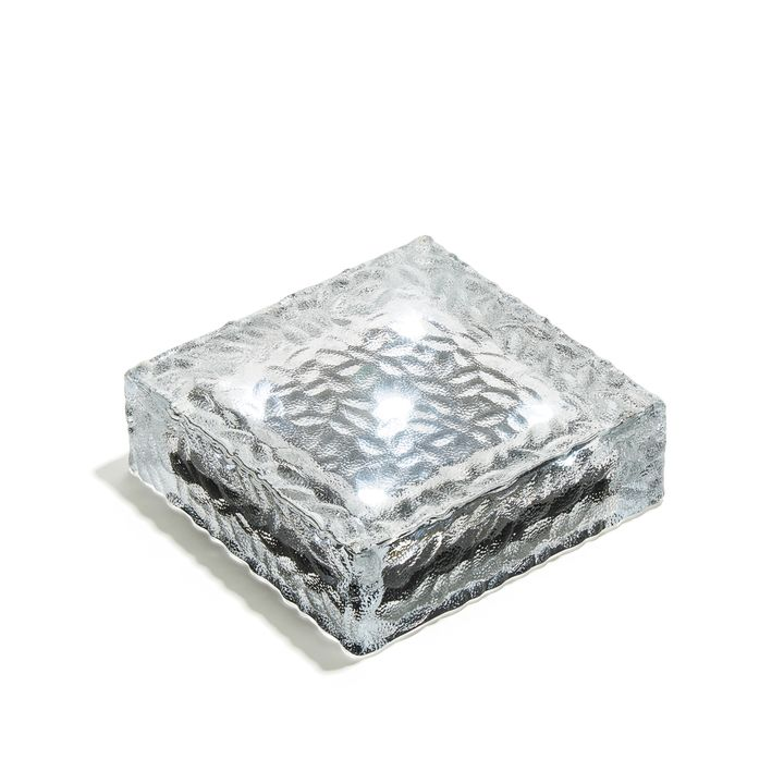 "Iced 6x6"" Solar Brick, Cool White"