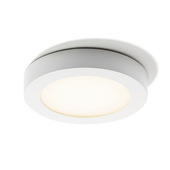 Honos Small White Flush Mount