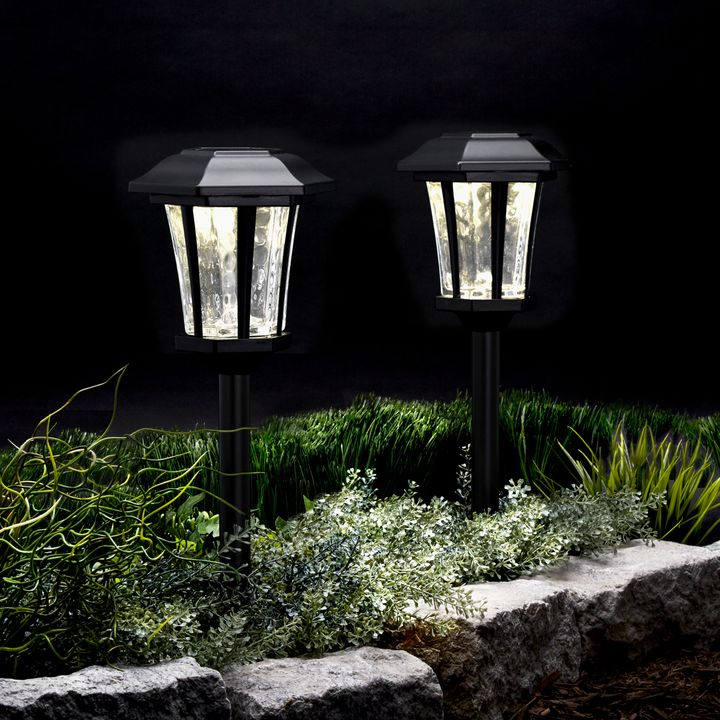 Hampstead Black Solar Path Lights Set Of 4