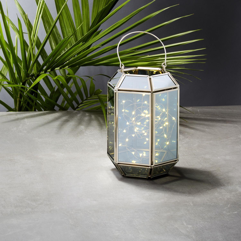 Rectangular Terrarium Lantern With Silver Fairy Lights By Lamplust