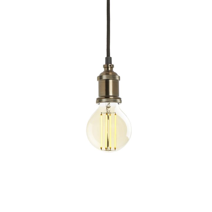 Pendant with Midwood LED Bulb, Bronze