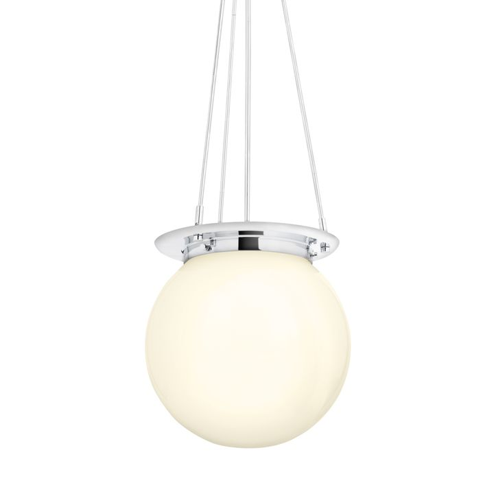 Lights Com Ceiling Pendant Lighting Regent Chrome White Globe