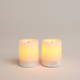 White Mini LED Flameless Votive, Set of 2
