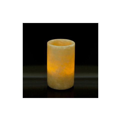 Round Honey Onyx Candleholder