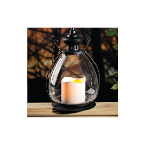 School House Flameless Candle Lantern with timer