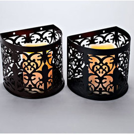 Flameless Candle Sconce Lantern with Auto Timer Feature