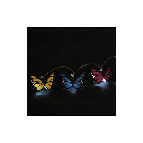 Lights.com Holiday Lit Objects Butterfly String Lights With 20 LED s - Plug-in