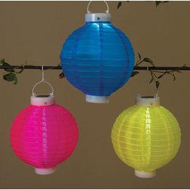 "Festival 9"" Solar Globe Lantern, Yellow"