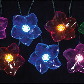 Acrylic Flower Battery String Lights, Set of 8