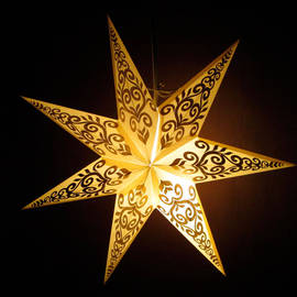 Tender Handmade Paper Star Lamp