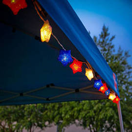 Red, White, and Blue Stars Plug-in String Lights, Strand of 10