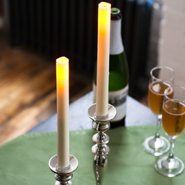 """Flameless 9"""" Taper Candle with Timer, Set of 2"""