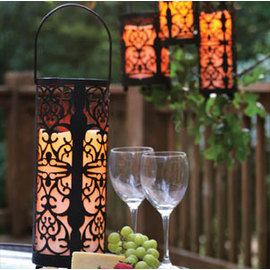 Flameless Candle Caged Lantern with Timer