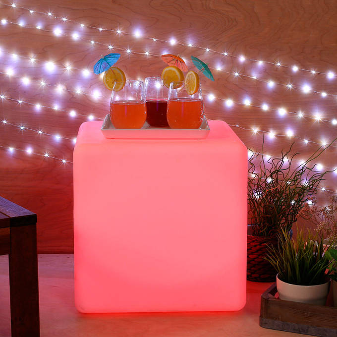 Color Changing LED Cube with Remote, Large