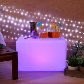 Color Changing LED Cube with Remote, Long