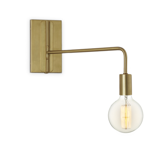 Hoyt Swing Arm Wall Sconce, Satin Brass
