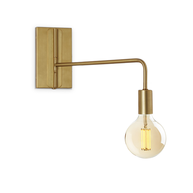 Prospect Swing Arm Wall Sconce, Aged Brass ...