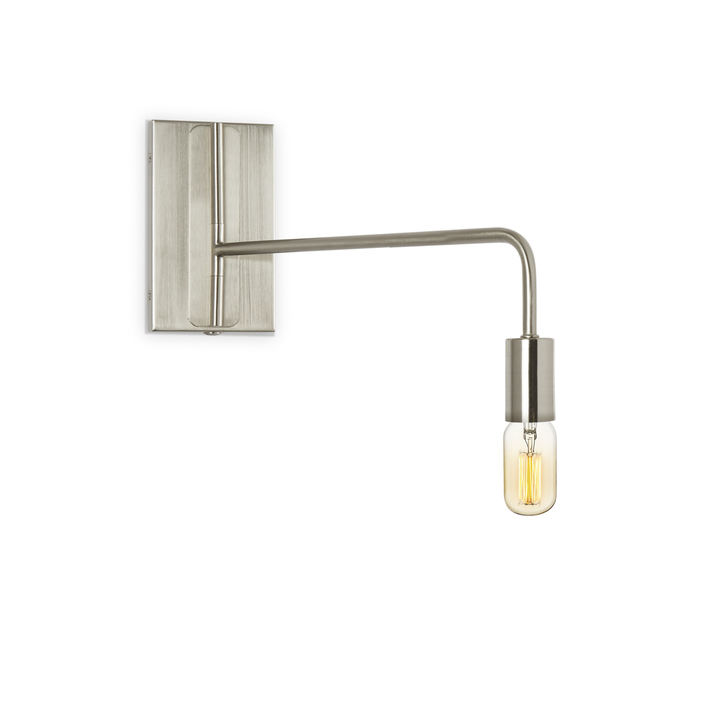 Prospect Swing Arm Wall Sconce, Satin Nickel ...