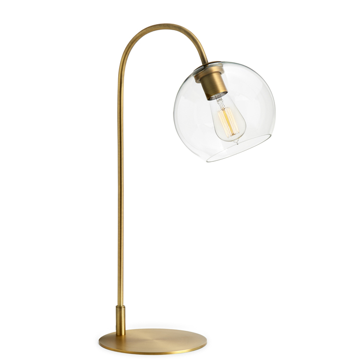 Lights.com | Lamps | Table Lamps | Celeste Table Lamp With Clear Globe,  Aged Brass