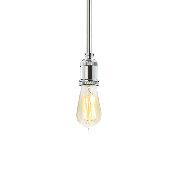 Alton Pendant with Raindrop Cage, Chrome