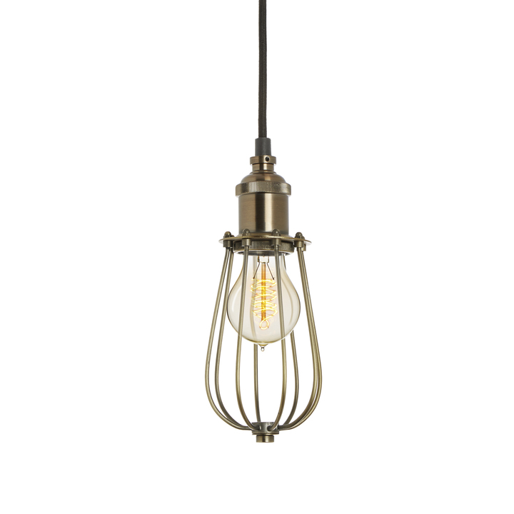 Alton Pendant with Raindrop Cage, Bronze