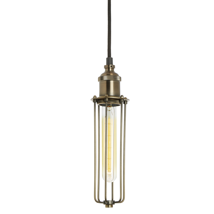 Alton Pendant with Slim Cage, Bronze