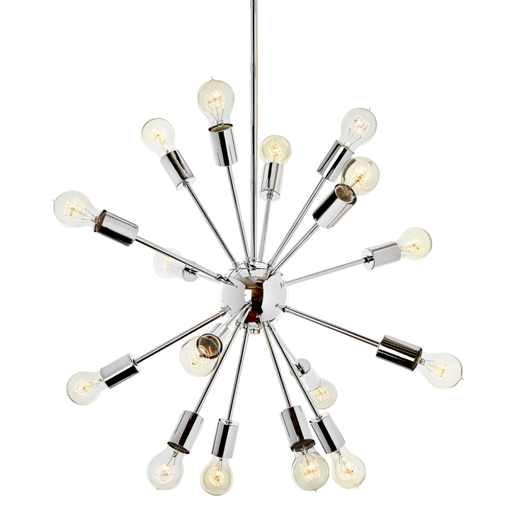 16-Light Sputnik Pendant in Chrome, Medium