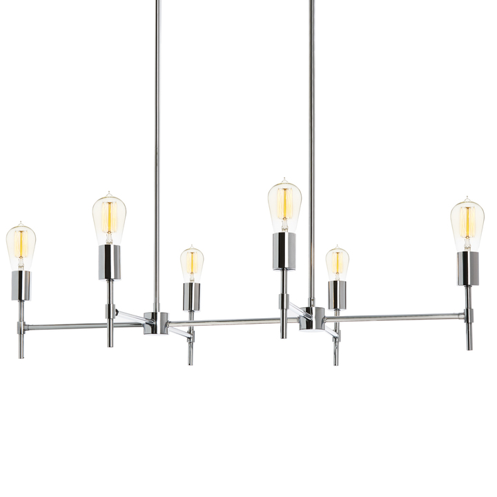 Prospect 6-Light Linear Chandelier, Chrome