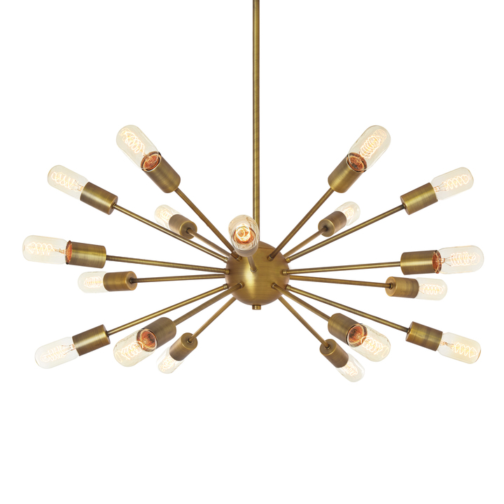 18-Light Sputnik, Aged Brass