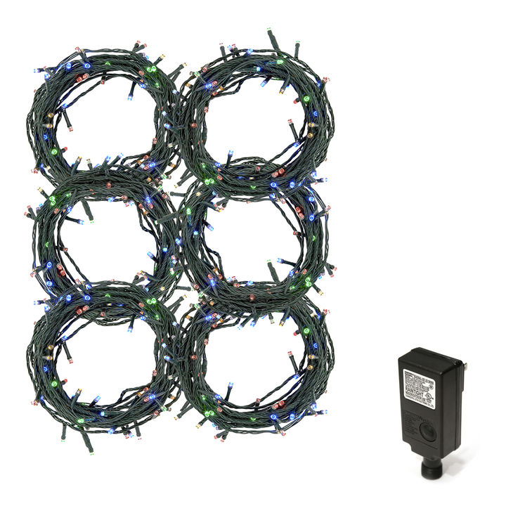 Multicolor LED Christmas Lights Plug-In, 180 feet