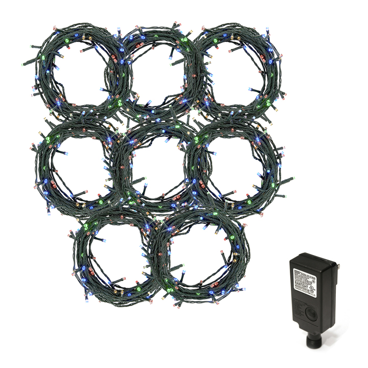 Multicolor LED Christmas Lights Plug-In, 240 feet