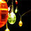 Multicolor Decorative Egg Battery String Lights, Strand of 10