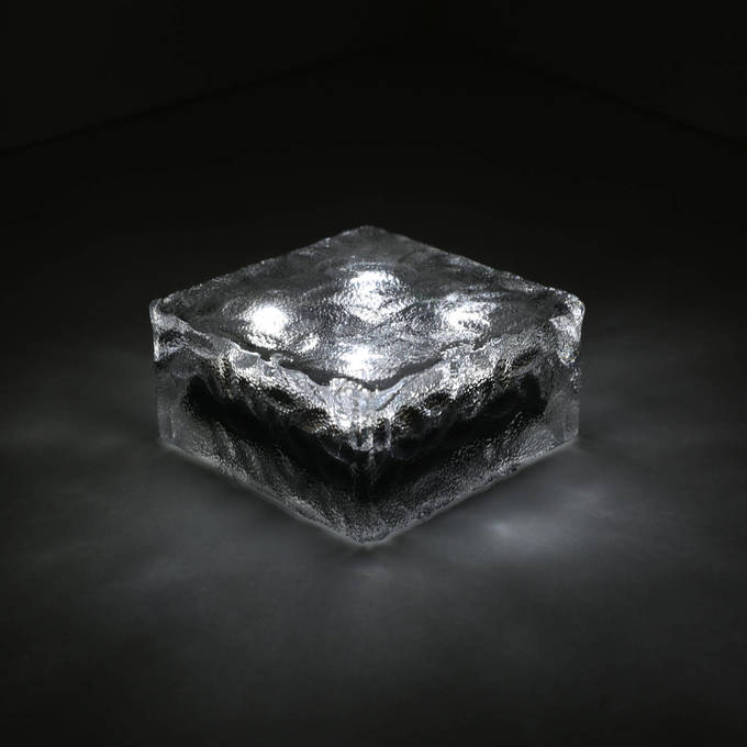 "Iced 4x4"" Solar Brick Light, Cool White"
