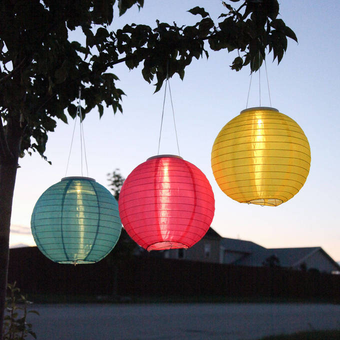 Newport Beach 12 Solar Lanterns Set Of 3