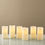 Open Box Ivory Melted-Edge Flameless Pillar Candles, Set of 6